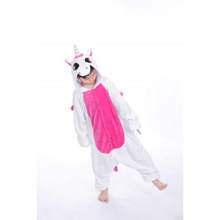 animal kigurumi pink Unicorn onesie pajamas for kids