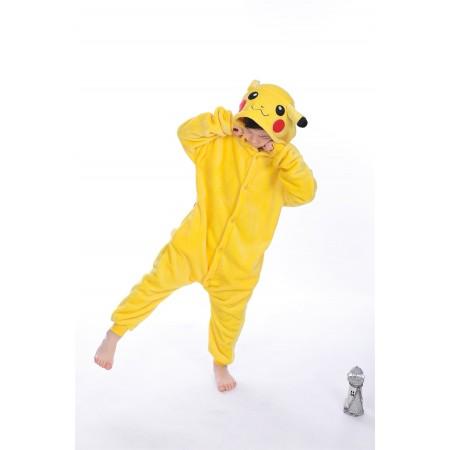 animal kigurumi yellow Pikachu onesie pajamas for kids