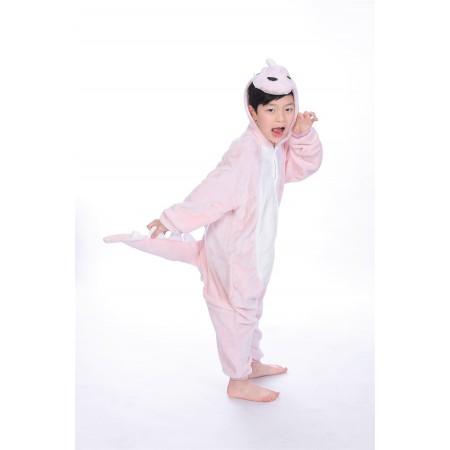 animal kigurumi pink Dinosaur onesie pajamas for kids