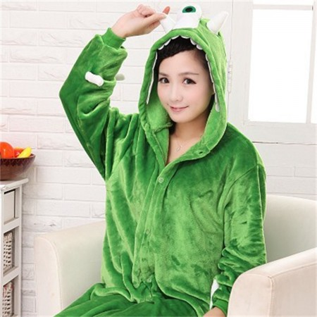 kigurumi green Monsters Mike Wazowski onesies animal pajamas for adults