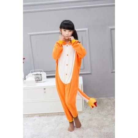 animal kigurumi yellow Charmander onesie pajamas for kids