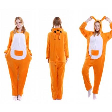 kigurumi yellow Kangaroo onesies animal pajamas for adults