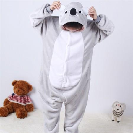 animal kigurumi grey Koala onesie pajamas for kids