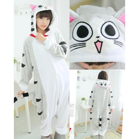 Cheese cat Pajamas Animal Onesies Costume Kigurumi