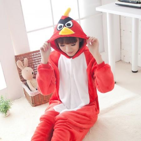 Red Angry Birds Pajamas Animal Onesies Costume Kigurumi