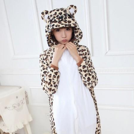 Leopard bear Pajamas Animal Onesies Costume Kigurumi