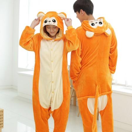 Golden monkey Pajamas Animal Onesies Costume Kigurumi