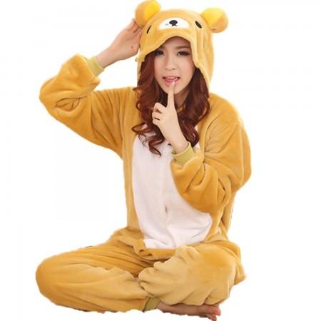 Rilakkuma Pajamas Animal Costume Onesie Adults Sleepwear Kigurumi