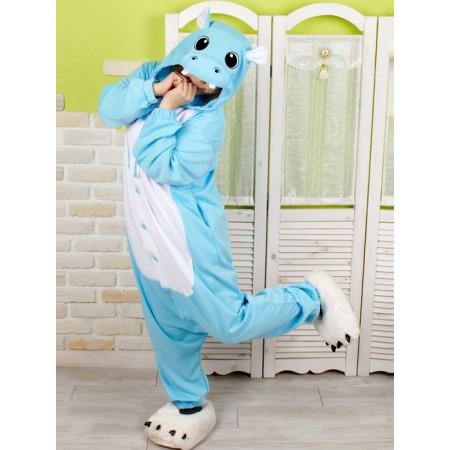 Blue Hippo Onesie