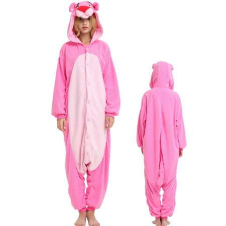 Pink Panther Onesie Unisex Animal Costumes For Adult & Kids
