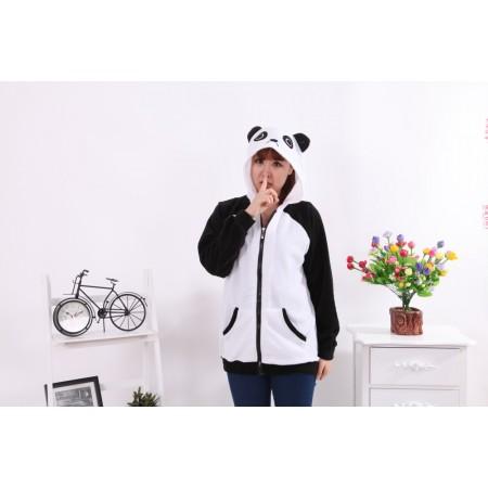 Panda Animal Kigurumi Fleece Hoodie Coat Jacket
