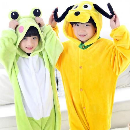 Frog and Pluto Dog Onesie Pajamas Animal Kids Kigurumi