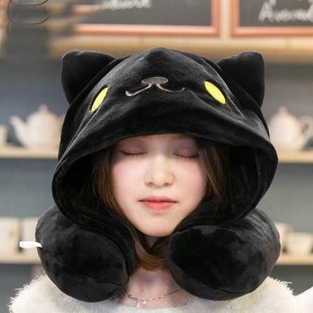 Midnight Cat Neck Pillow