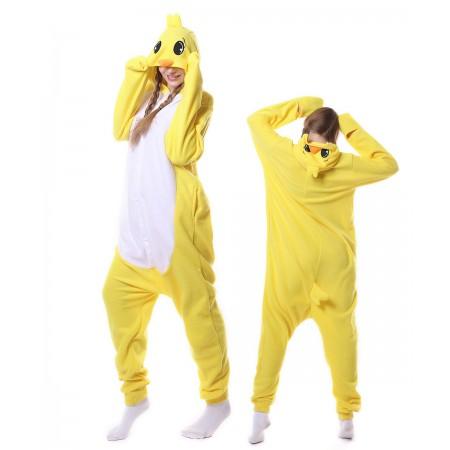 Yellow Duck Onesie Pajama Animal Costumes For Women & Men