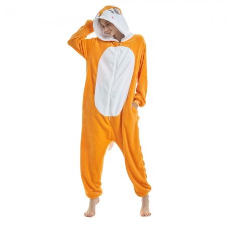 Yellow Fox Animal Onesie Pajamas For Women & Men 2018
