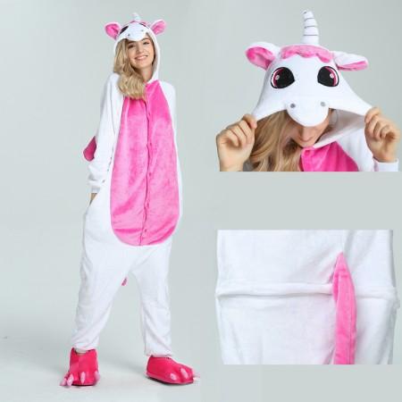 kigurumi pink Unicorn onesies animal pajamas for adults