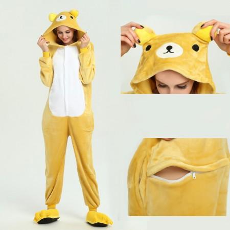 kigurumi yellow Bear onesies animal pajamas for adults