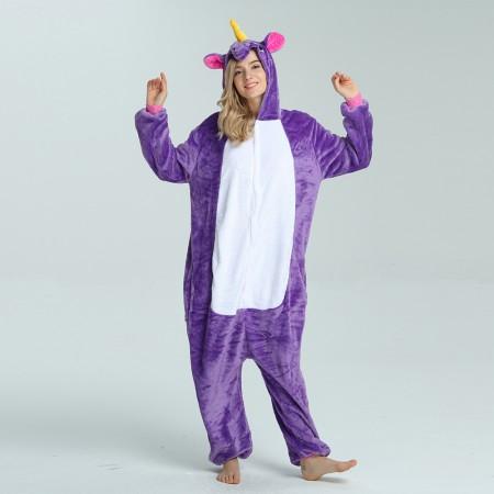 kigurumi purple Pegasus onesies animal pajamas for adults