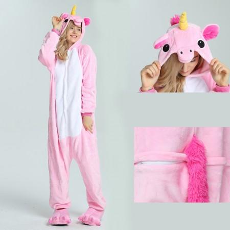 kigurumi pink Pegasus onesies animal pajamas for adults