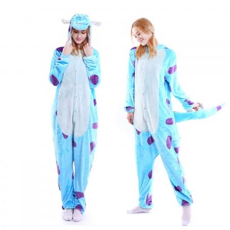 kigurumi blue purple Sullivan onesies animal pajamas for adults