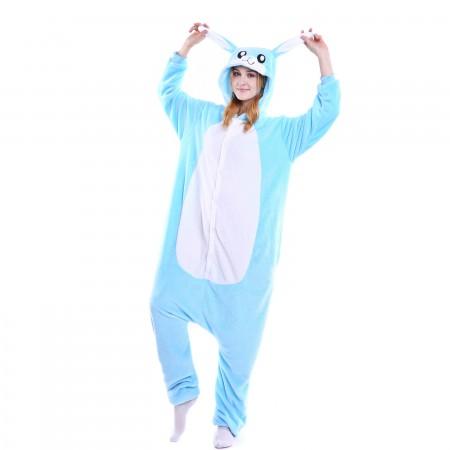 kigurumi blue Rabbit onesies animal pajamas for adults