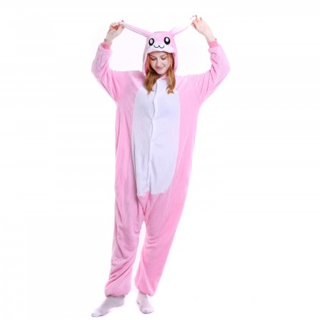kigurumi pink Rabbit onesies animal pajamas for adults