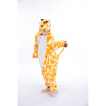animal kigurumi yellow Giraffe onesie pajamas for kids