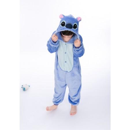 animal kigurumi blue Stitch onesie pajamas for kids